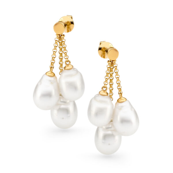 Triple Drop pearl Earrings