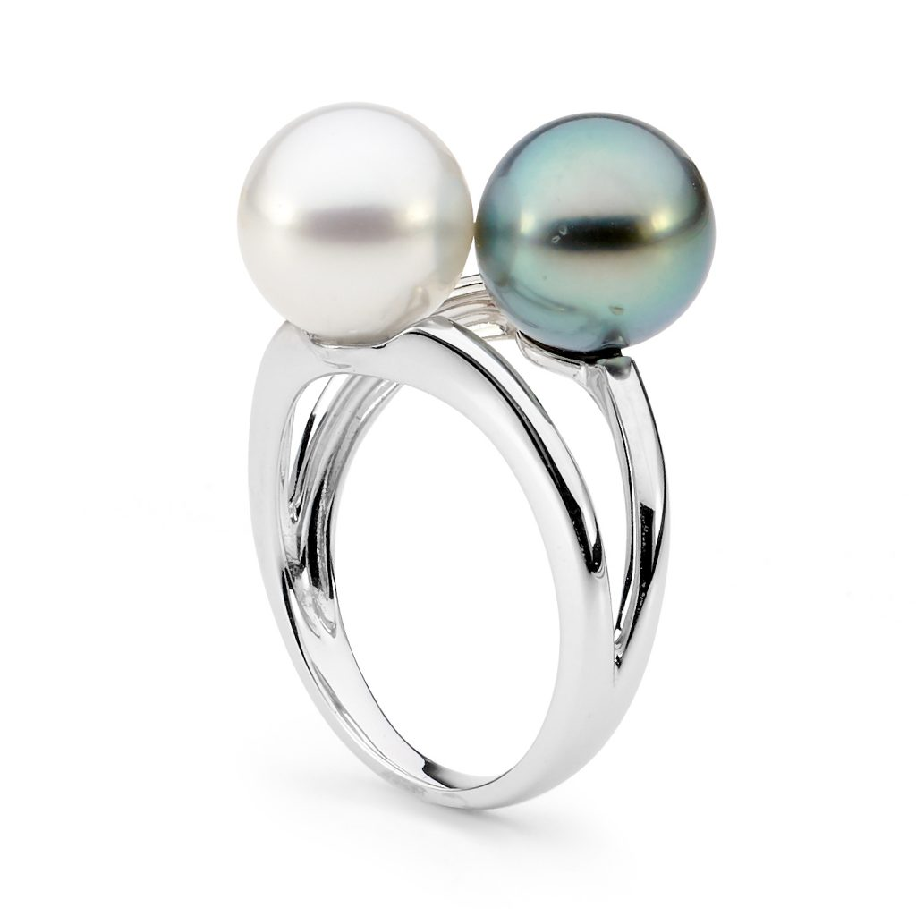 South Sea and Tahitian Pearl Ring