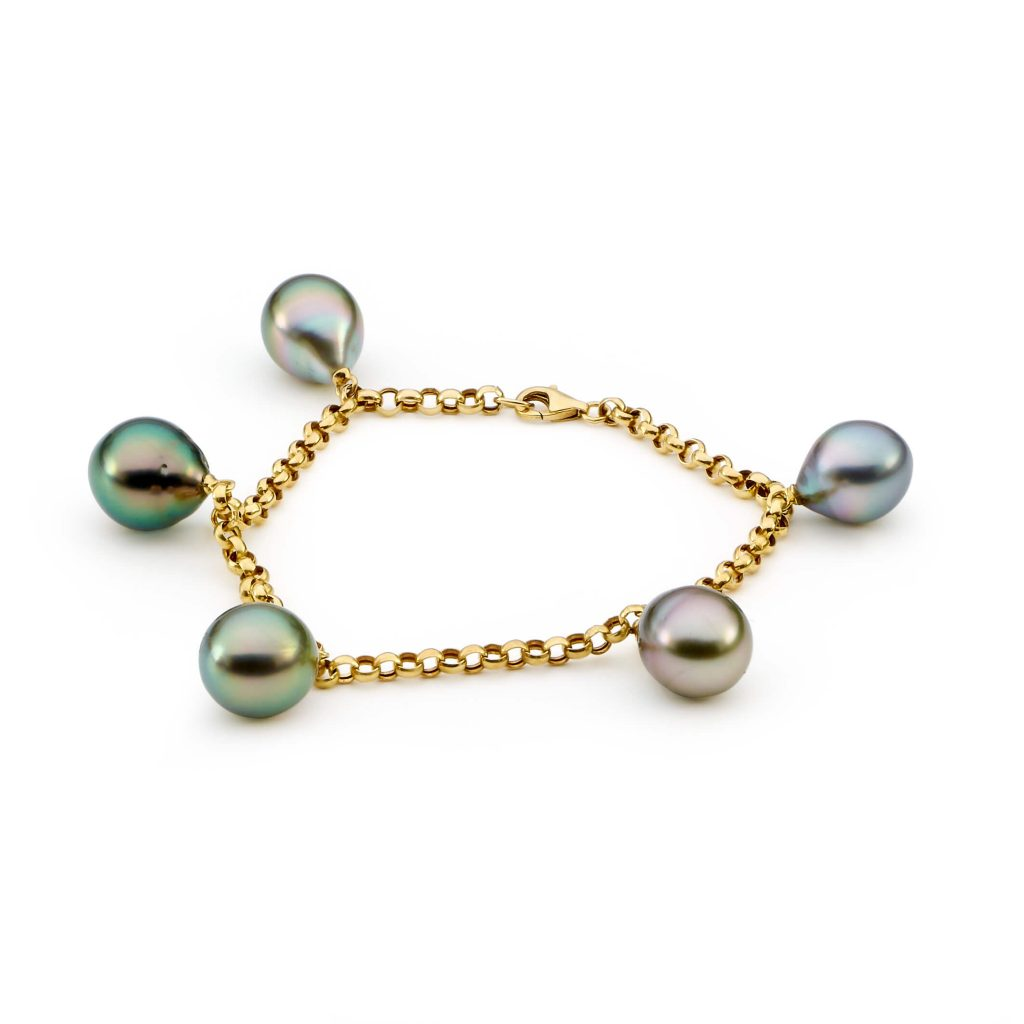 tahitian pearl charm bracelet