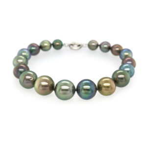 Multi coloured Tahitian Pearl Bracelet 9-11mm