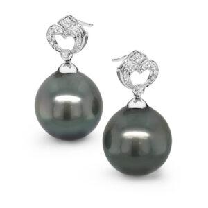 Heart Tahitian Pearl Earrings