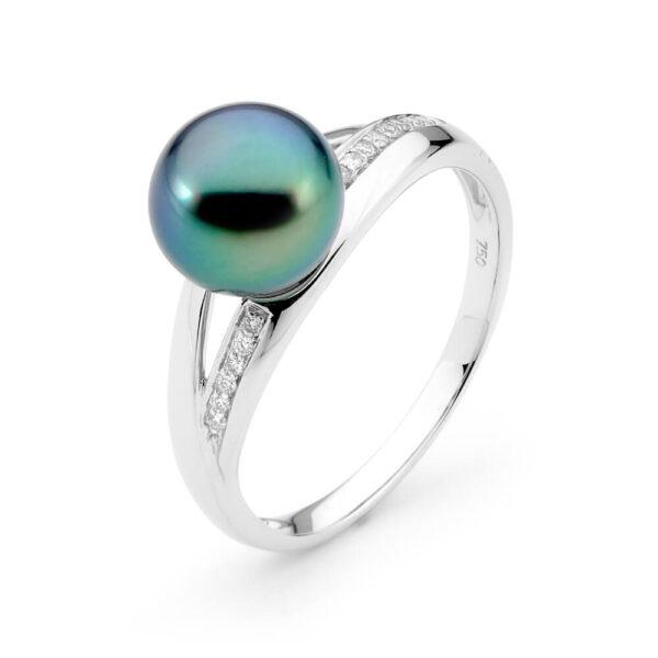 Tahitian pearl Split ring