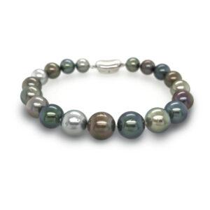 Multi coloured Tahitian Pearl Bracelet 8-11mm