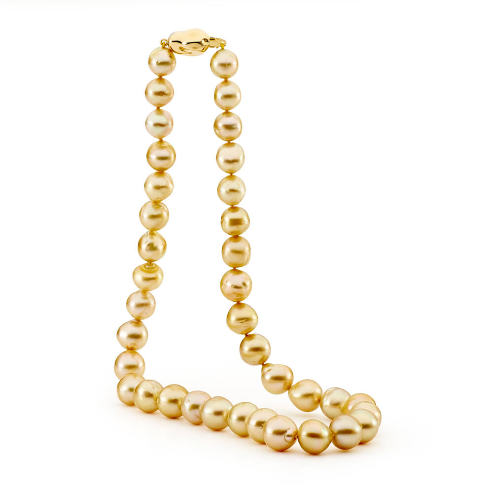 light gold baroque pearl necklace