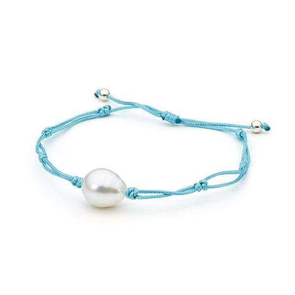 South Sea Thin Cord Bracelet Aqua