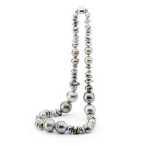 Tahitian Keshi & Large Pearl Necklace