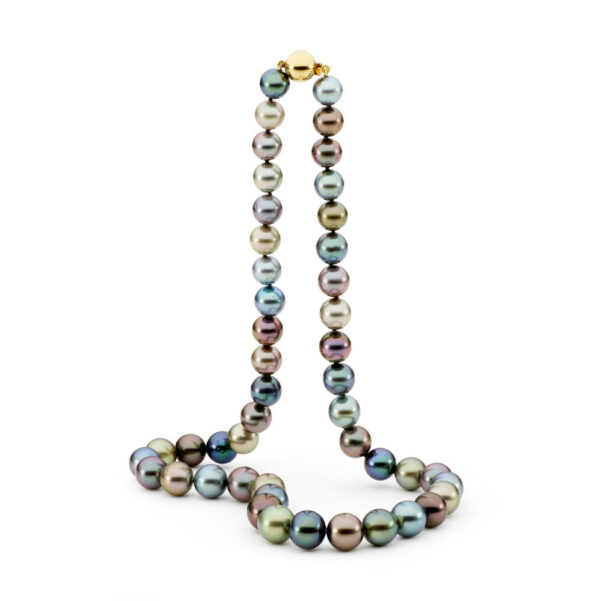 Multi Colour Tahitian Round Pearl Necklace