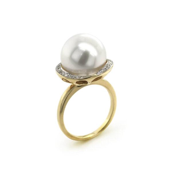 Halo White Pearl Ring