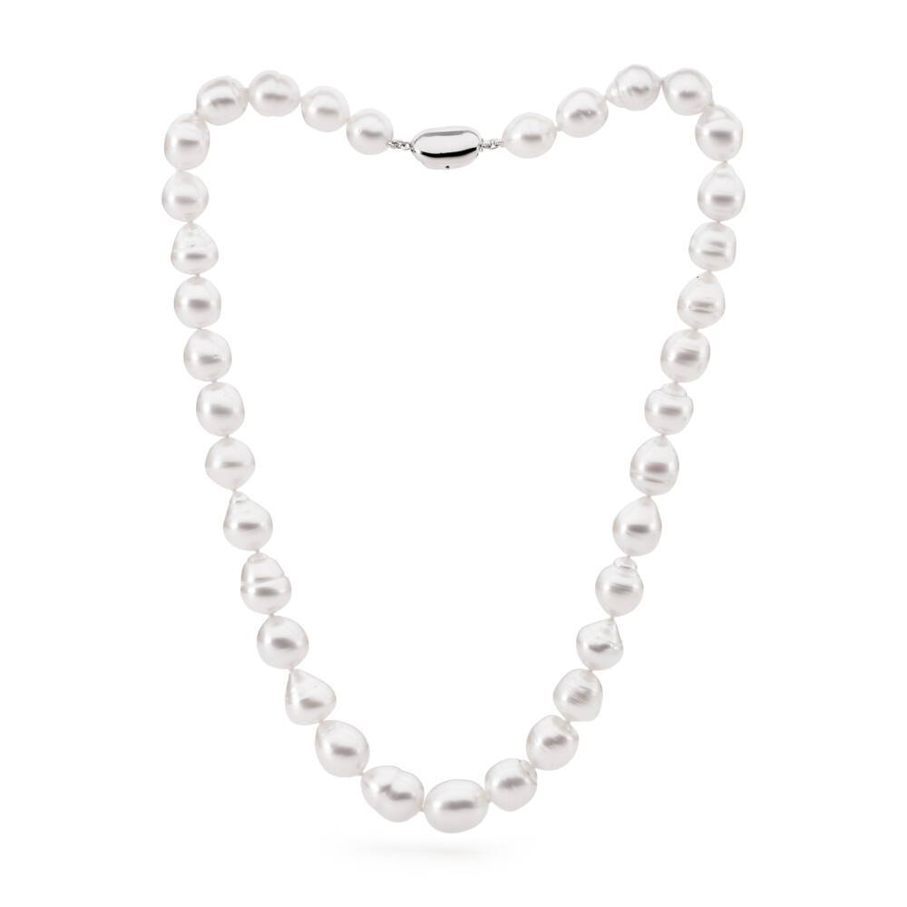 Drop-circle shaped South Sea White Pearl Necklace