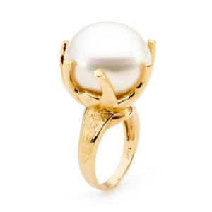 19 mm Pearl Tendril Ring