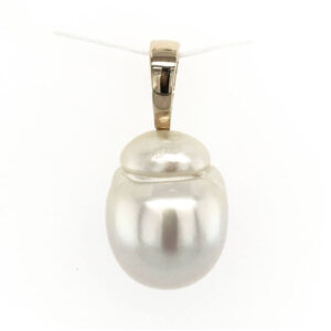 15.8mm Cream South Sea Pearl on 14 Carat Yellow Gold Enhancer