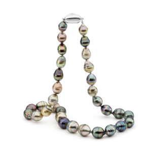 Multi Coloured Circle Shaped Tahitian Pearl Necklace