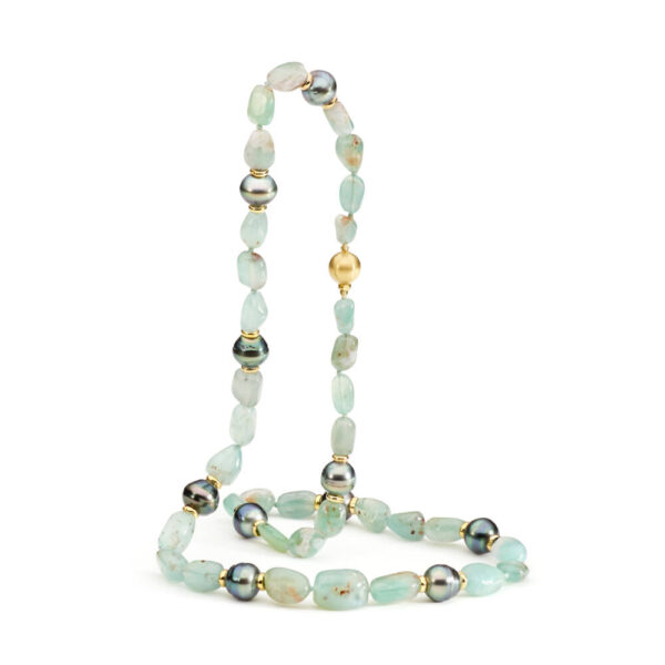 Aquaprase & Tahitian Pearl Necklace